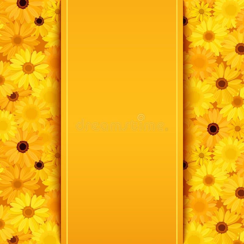 Download La Tarjeta De La Invitación Con El Gerbera Amarillo Y Anaranjado Florece Ilustración del Vector - Ilustración de color, flores: 41907081
