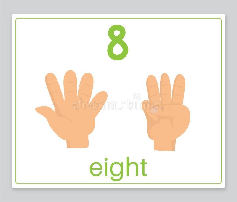 La tarjeta 8 de la palabra stock de ilustración