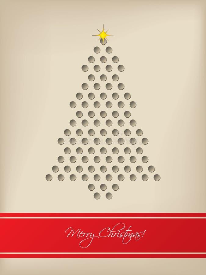 la tarjeta de navidad fresca con el rbol form los puntos d
