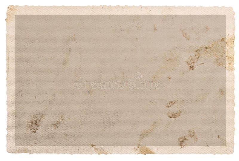 La tarjeta de papel texturizada de la foto mancha los bordes fotografía de archivo