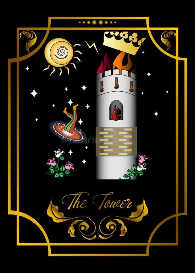 La tarjeta de la torre stock de ilustración