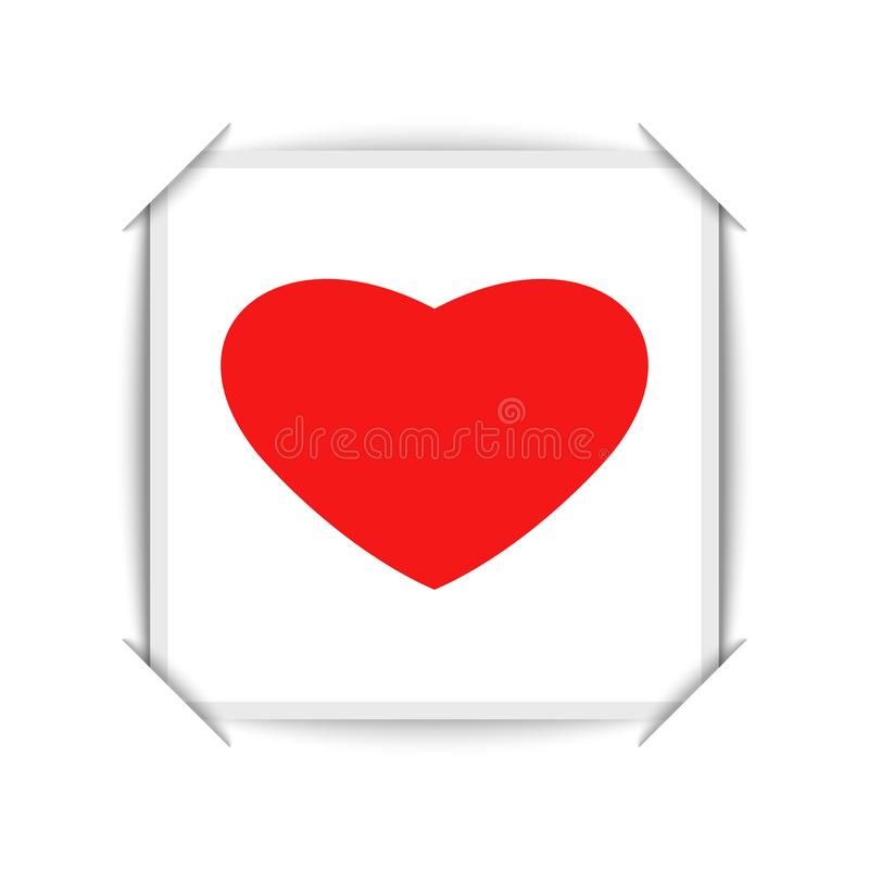 La tarjeta del día de San Valentín feliz es diseño de la tarjeta de felicitación del día es un cartel en blanco del partido del a stock de ilustración