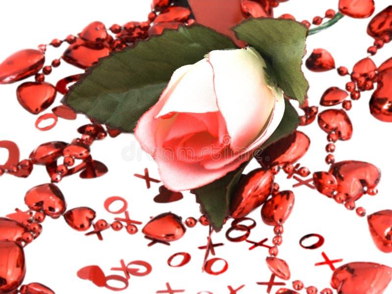 La tarjeta del día de San Valentín se levantó ilustración del vector