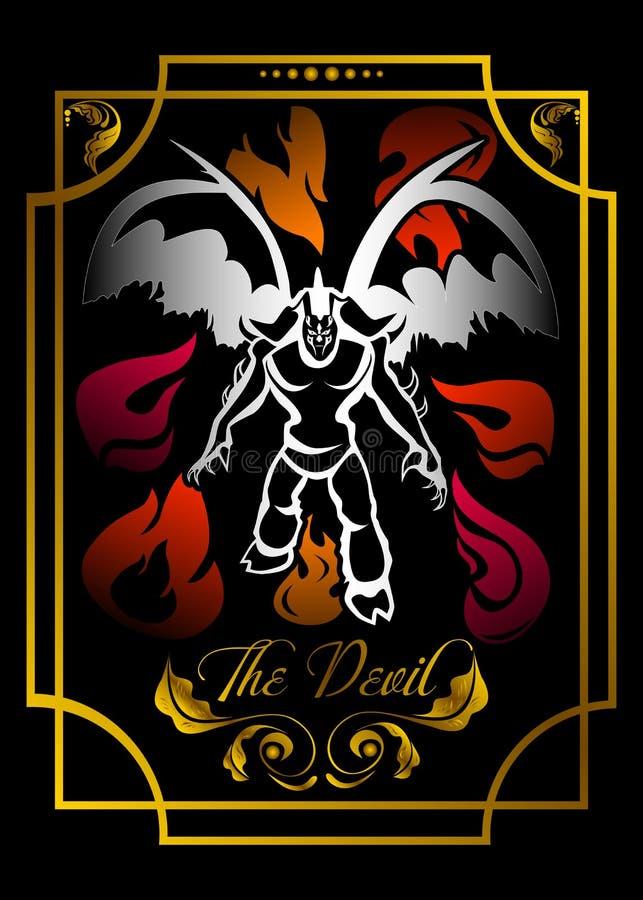 La tarjeta del diablo ilustración del vector