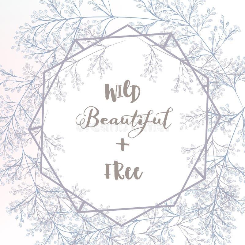 La tarjeta elegante de la invitación de la boda o ahorra la fecha con el campo azul libre illustration