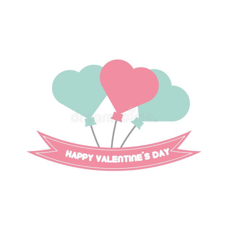 La Tarjeta Feliz Del Día De San Valentín Hincha Color En Colores ...