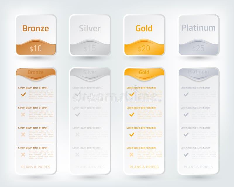 La tasación colorida planea el concepto stock de ilustración