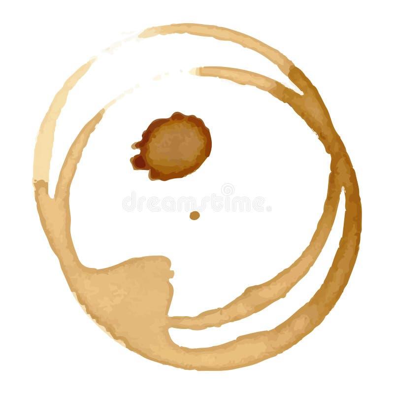 La tasse de tache de café repère le vecteur illustration de vecteur