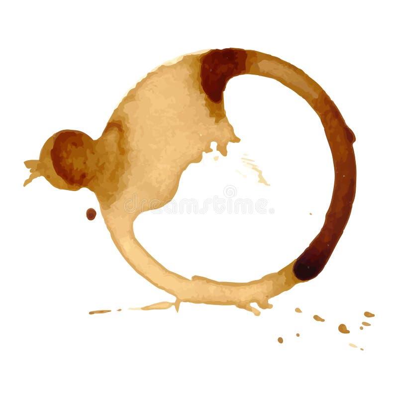 La tasse de tache de café repère le vecteur illustration libre de droits