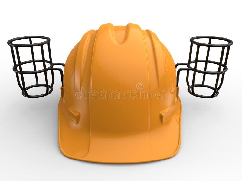 La tasse/peut chapeau de support de rafraîchissements illustration de vecteur