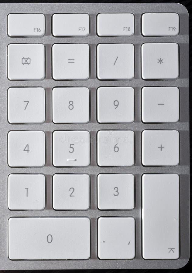 Download La tastiera di alluminio immagine stock. Immagine di hardware - 7321341