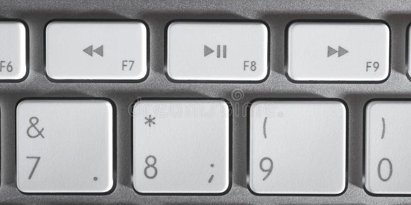 Download La tastiera di alluminio fotografia stock. Immagine di contatto - 7321426