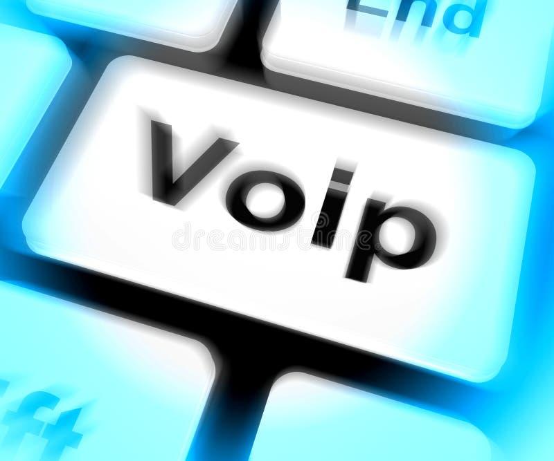 La tastiera di Voip significa la Voice over Internet Protocol o la banda larga Te illustrazione vettoriale