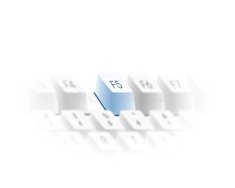 La tastiera rinfresca il tasto illustrazione vettoriale