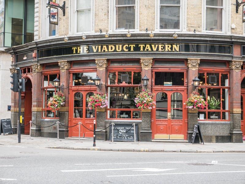 La taverne de viaduc, Holborn, Londres images stock