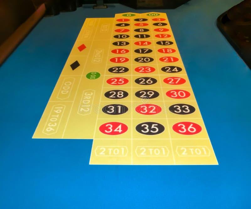 La tavola del gioco di gioco delle roulette del casinò fotografia stock