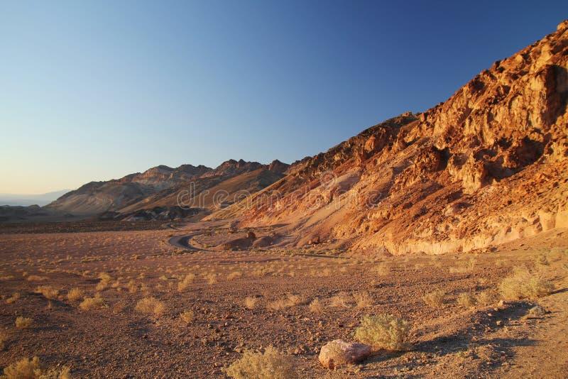 La tavolozza dell'artista in Death Valley fotografie stock