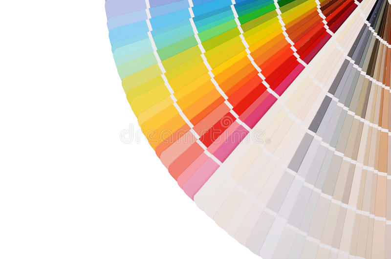 La tavolozza di colore isolata su bianco fotografia stock libera da diritti