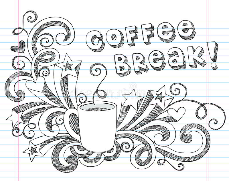 La taza de café garabatea el ejemplo del vector libre illustration