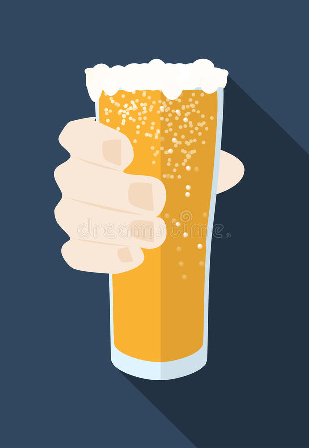 La taza de cerveza con el icono del vector de la espuma se podía utilizar como símbolo de Oktoberfest imágenes de archivo libres de regalías