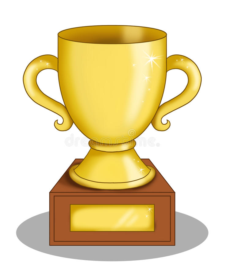 La tazza del vincitore illustrazione vettoriale