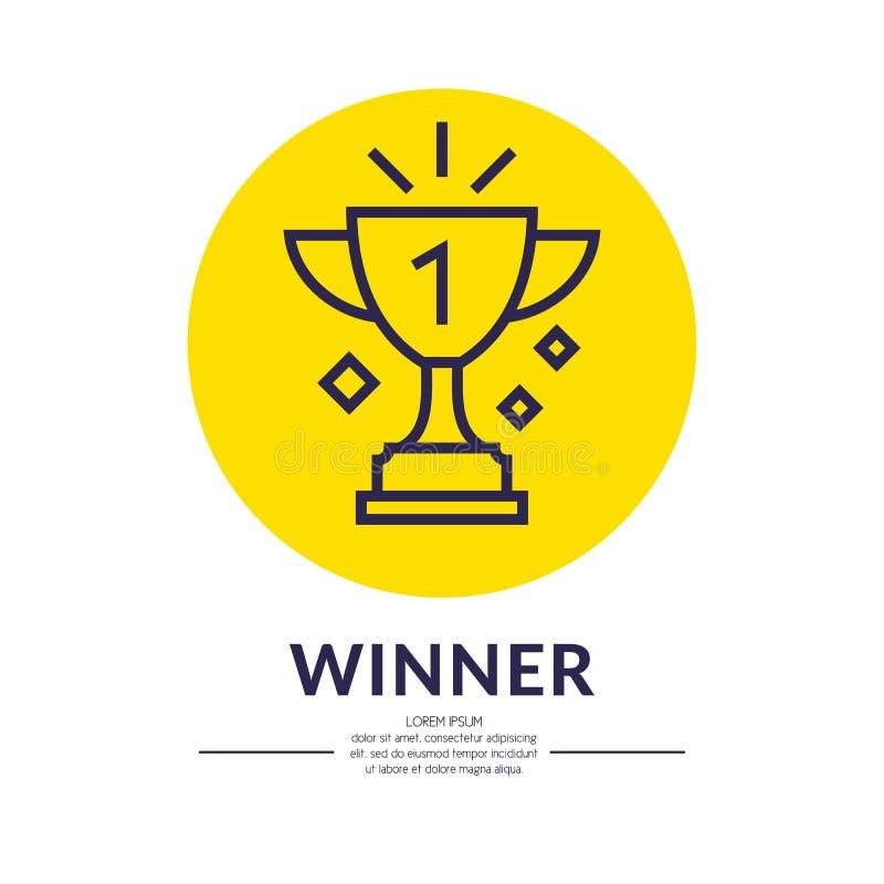 La tazza di campioni Mette in mostra il trofeo, un premio al vincitore royalty illustrazione gratis
