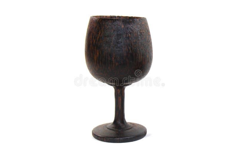 La tazza di legno del vino handcraft fotografie stock libere da diritti