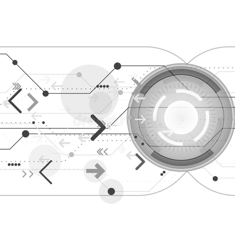 La technologie abstraite de fond dirige des cercles illustration stock