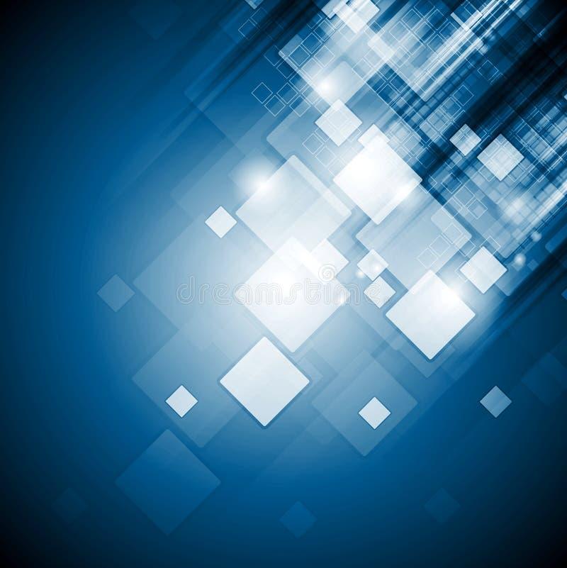 La technologie bleue lumineuse ajuste le fond illustration libre de droits