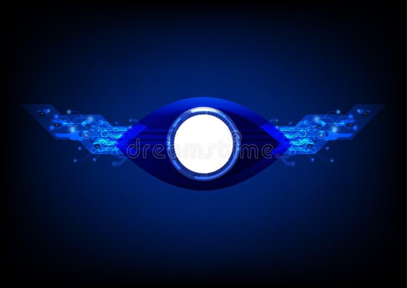 La technologie d'oeil photographie stock libre de droits