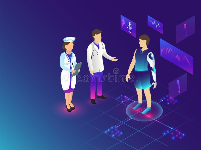 La technologie futuriste pour le concept médical de biotechnologie basé est illustration de vecteur