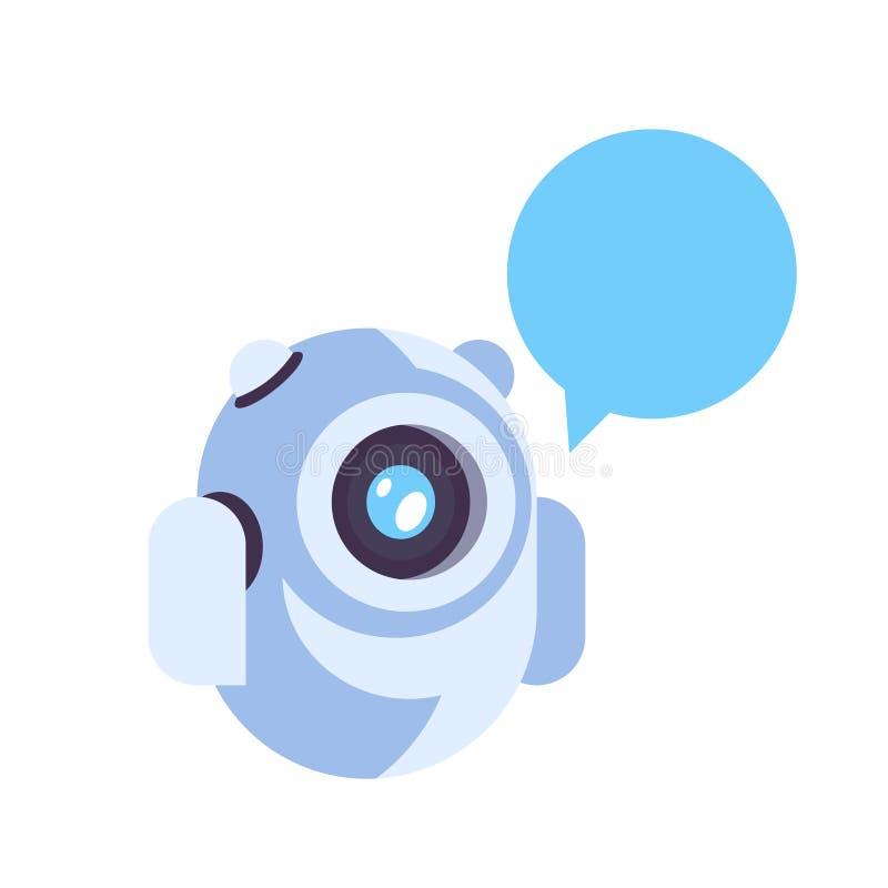 La tecnología del chatbot del concepto de la inteligencia artificial del icono de la burbuja de la charla del robot del bot de la ilustración del vector