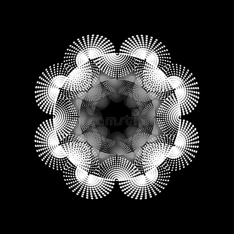 La tecnología grande de los datos completa un ciclo el fondo de la onda acústica ilustración del vector
