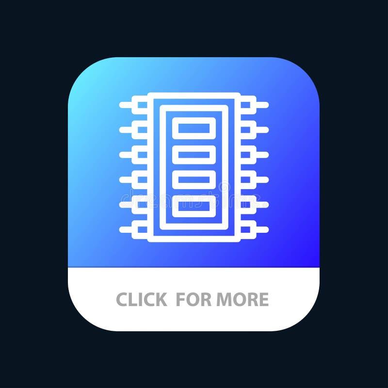 La tecnología, hardware, microprocesador, ordenador, conecta el botón móvil del App Android y línea versión del IOS libre illustration