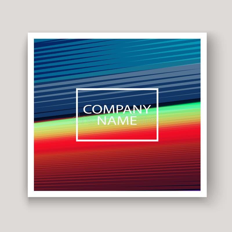 La tecnología moderna rayó rojo azul del diseño abstracto de las cubiertas neón stock de ilustración