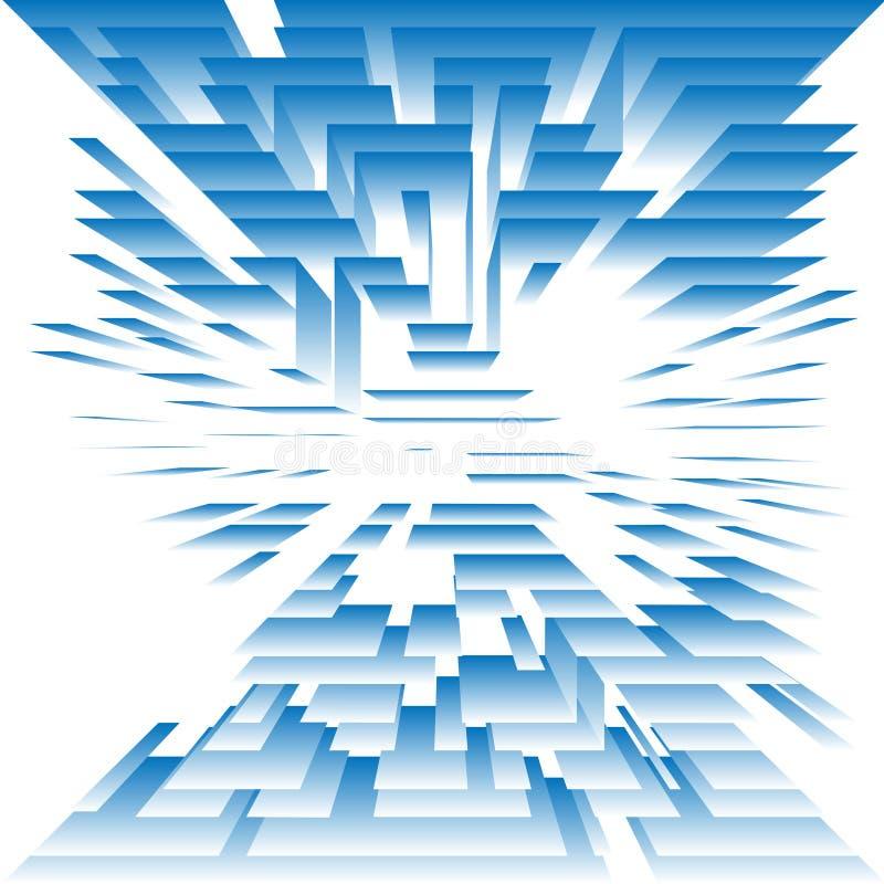 La tecnologia astratta livella gli strati su bianco illustrazione vettoriale