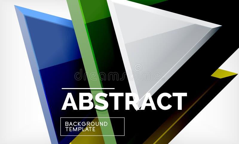 La tecnologia 3d geometrico futuristico modella, fondo astratto minimo illustrazione di stock
