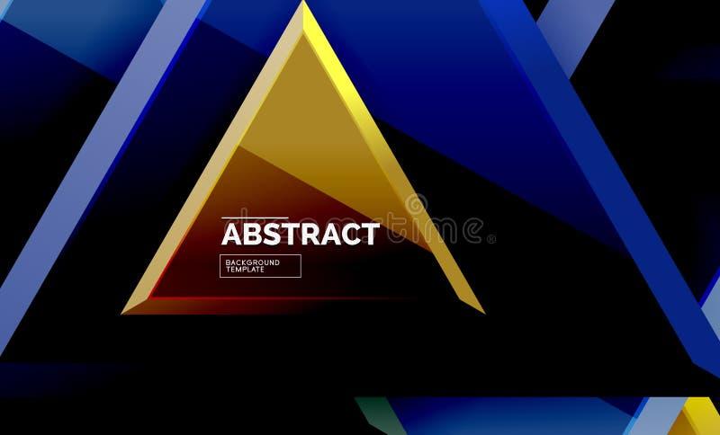 La tecnologia 3d geometrico futuristico modella, fondo astratto minimo illustrazione vettoriale