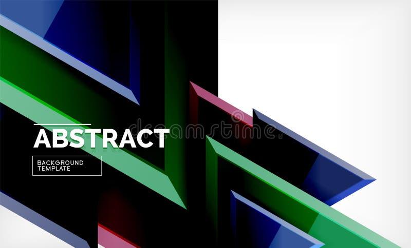 La tecnologia 3d geometrico futuristico modella, fondo astratto minimo royalty illustrazione gratis