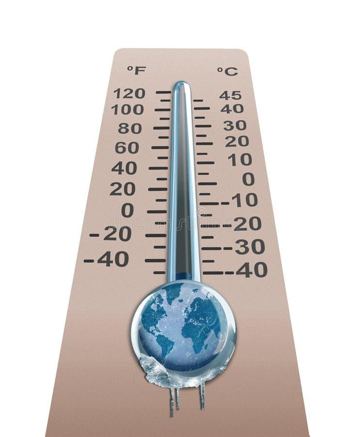 La température froide de la terre illustration de vecteur