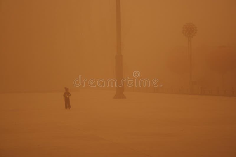 La tempête de sable images libres de droits