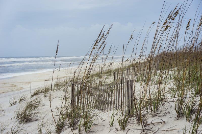 La tempête tropicale approche la plage de la Floride photos stock