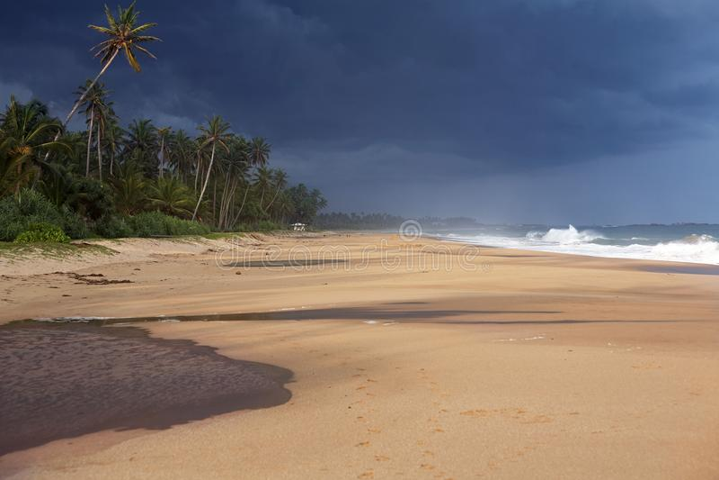 La tempesta imminente fotografia stock