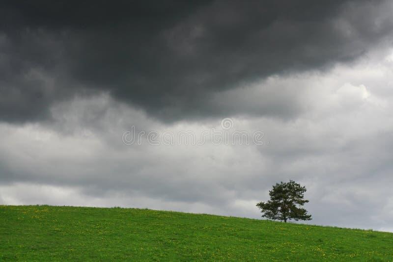La tempesta sta venendo fotografia stock