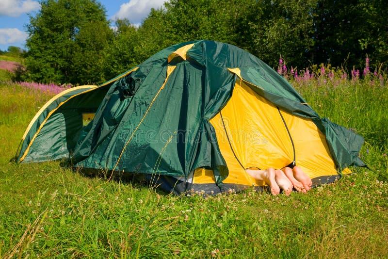 La tenda fotografia stock