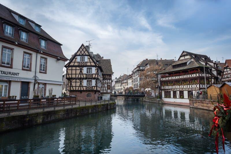 La tenger Frankrijk - Straatsburg stock afbeelding