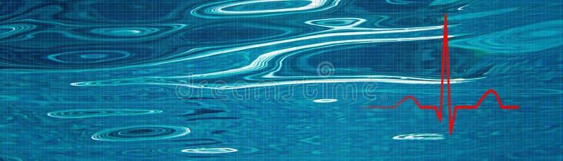 La tensión libera concepto Gestión del estrés ECG del ritmo del corazón, ECG foto de archivo libre de regalías