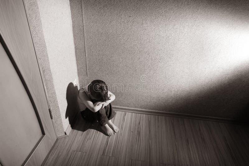 La tension des enfants photo libre de droits
