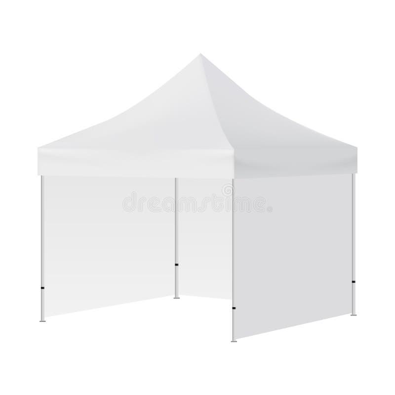 La tente carrée vide avec trois murs raillent  illustration stock