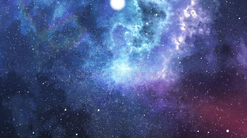 La teoría de Big Bang con el fondo de la microonda libre illustration